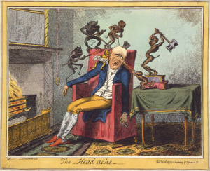 Mal di Testa - Cruikshank - The_Head_Ache - www.scuoladirespiro.org