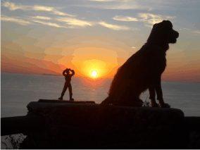 Meditazione al tramonto a Ischia - www.scuoladirespiro.org