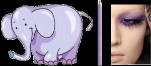 Elefante Matita Occhi Lilla - www.scuoladirespiro.org